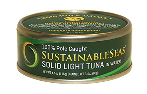 Tuna Casserole (Sustainable Seas, Solid Light Tuna in Spring Water, 4.1 Ounce (Pack of 12))