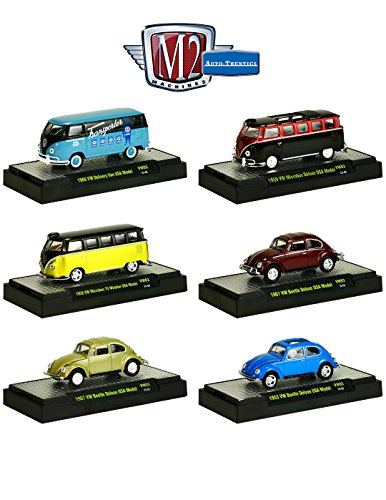 Auto Thentics Volkswagen 6 Cars Set Release 3 IN DISPLAY CASES 1/64 by M2 Machines 32500-VW03 from Volkswagen