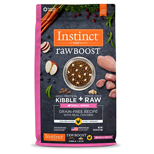 Instinct Raw Boost Small Breed Grain Free Recipe with Real Chicken Natural Dry Dog Food by Nature's Variety, 10 lb. Bag (Best Raw Dog Food For Allergies)