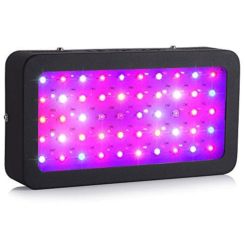 Ledgle LED Grow Light 50X5W Full Spectrum With UV IR Plant Grow Light for Indoor Plant Growing