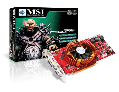 MSI N9800GT-T2D512-OCv2 GeForce 9800 GT 512 MB 256-bit GDDR3 PCI Express 2.0 x16 HDCP Ready SLI Supported Video Card - Retail