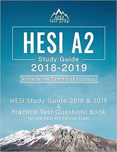 HESI A2 Study Guide 2018 2019 HESI Study Guide 2018
