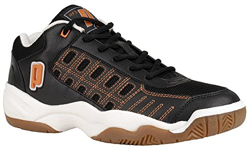 Prince NFS Rally Squash Shoe (Black/White/Orange) (7.5)