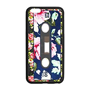 Best Slim Vintage Funny Cassette Tape Design Case Cover for iPhone 6 Plus For Impact Protection Super Fit iPhone 6 Plus TPU(Laser Technology) - 5.5inches