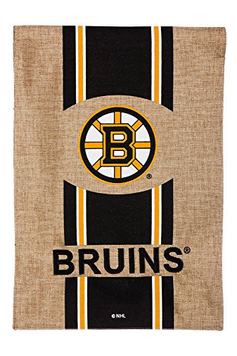 Team Sports America Burlap Boston Bruins Garden Flag, 12.5 x 18 inches
