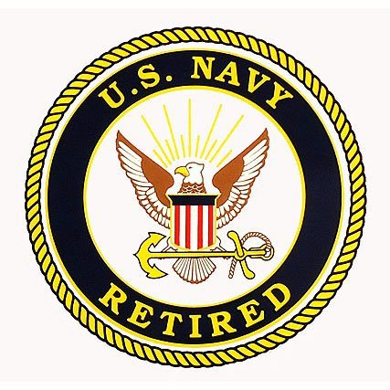 - U.S. Navy Retired Clear Decal