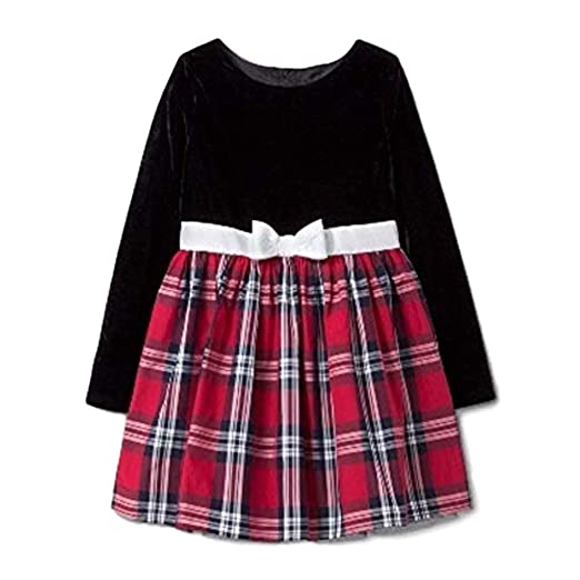 b3ae88a384d45 Amazon.com: Cat & Jack Girls' Classic Collection A Line Dress Black ...