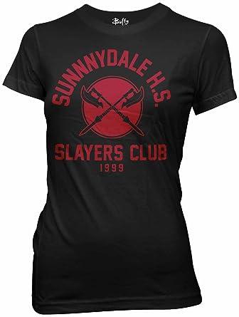 25b6d6e4d357a Buffy the Vampire Slayer Sunnydale HS Slayer's Club Womens T-Shirt ...