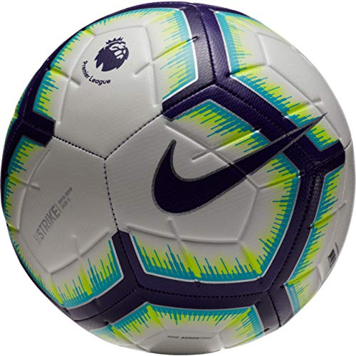 Nike 2018-2019 EPL Strike Soccer Ball (White/Blue/Purple) - Soccer New Nike