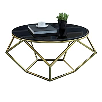 Amazon De Table Family Csq Marmor Couchtisch Haushalts Runde Sofa