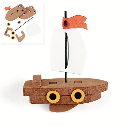 Fun Express 3D Floating Ship Craft Kit (1 Dozen) ()