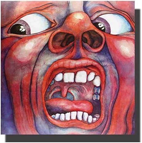 Art In The Court of the Crimson Cover Album Cloth Poster Wall Picture Decoration Room Decoraci/ón de la pared Imprimir en lienzo-50x50cm Sin marco