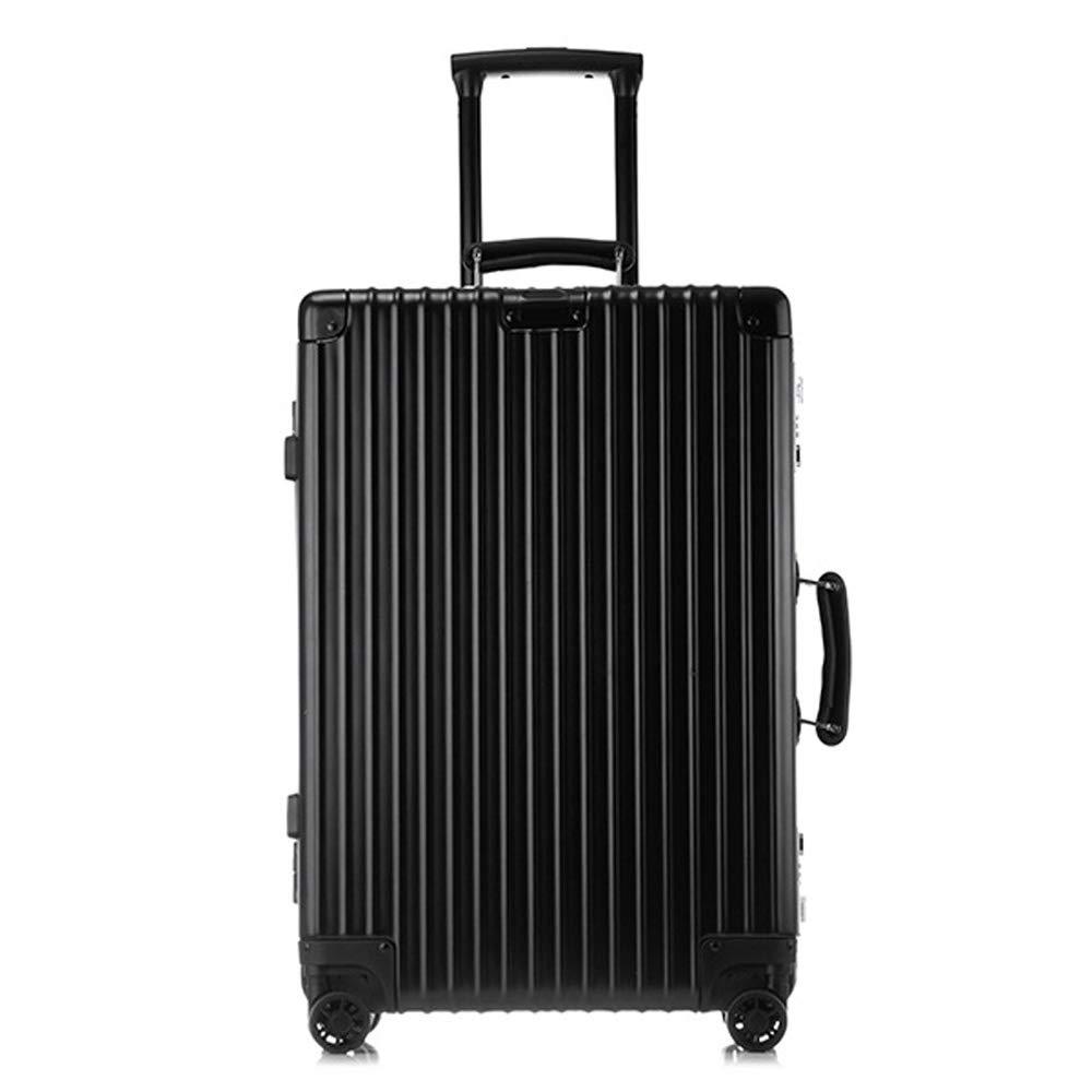 スーツケーストロリー手持ちのキャビン荷物ハードシェルトラベルバッグ軽量4スピナーホイール 41*29*61CM B07T4PBK3L Black