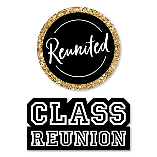 Big Dot of Happiness Reunited - DIY Shaped School Class Reunion Party Cut-Outs - 24 Count -
