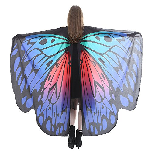 Wintialy Women Butterfly Wings Shawl, Wintialy Scarves Ladies Nymph Pixie Poncho Costume -