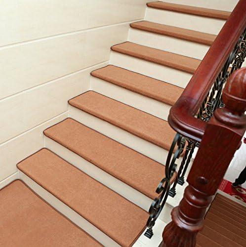 7 unidades (25 x 9 pulgadas), cualquier belleza de peldaños de escalera, antideslizante de gel de sílice, antideslizante, protectores de escalera de interior, modernas alfombrillas para escalera de suelo duro: Amazon.es: Bricolaje
