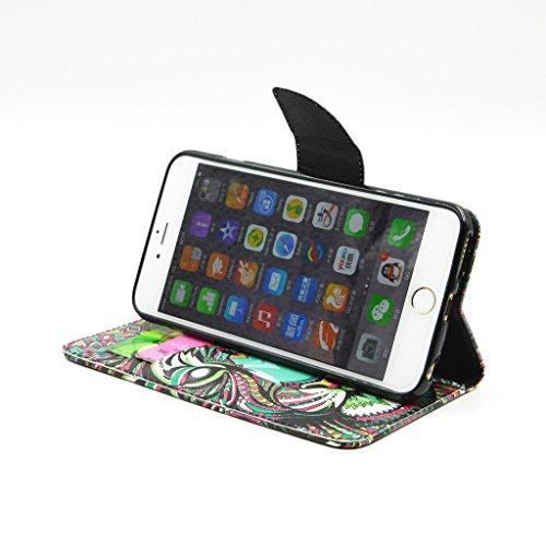 "iPhone 6(4.7"") Case, Yaobai flip en cuir PU Wallet Card *** Magnetic PU cuir Wallet *** stand Case titulaire de la carte Shell cute adorable [animal] flip PU Housse en cuir Housse Wallet Card avec plu"
