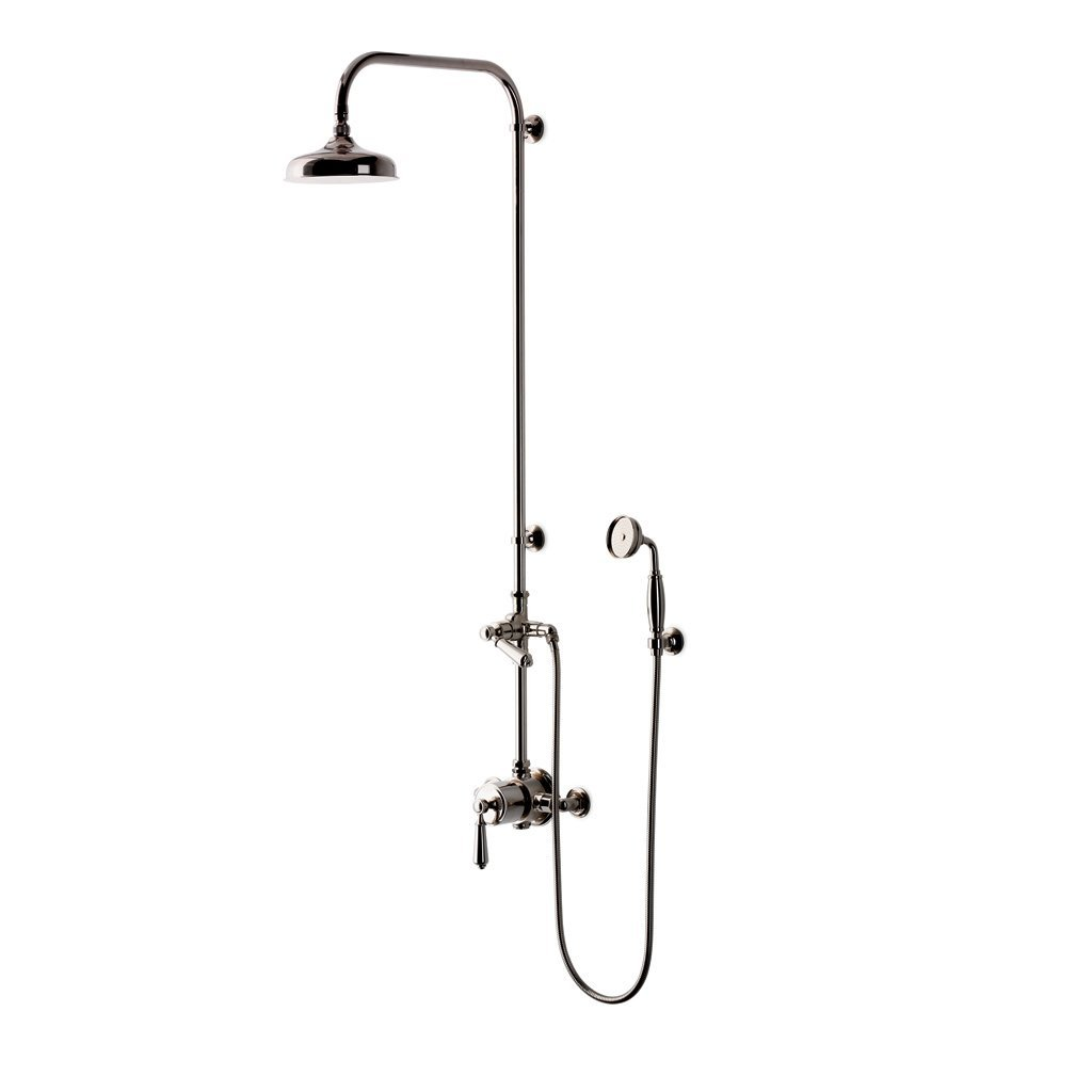 Waterworks Easton Classic Exposed Thermostatic Shower System with 8'' Shower Head in Nickel