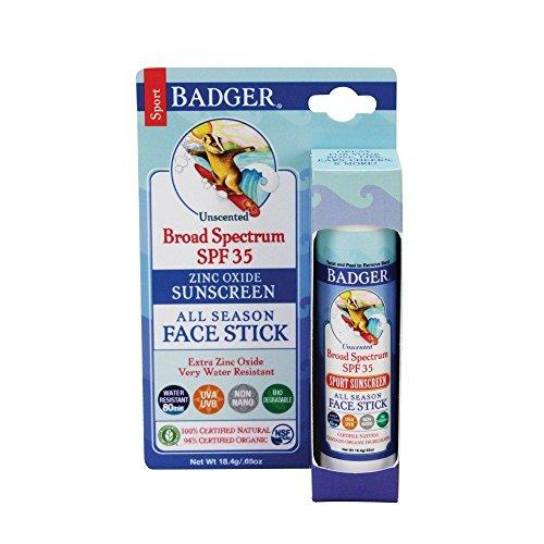 (Badger SPF 35 Sport Sunscreen Face Stick - 0.65 oz Stick)