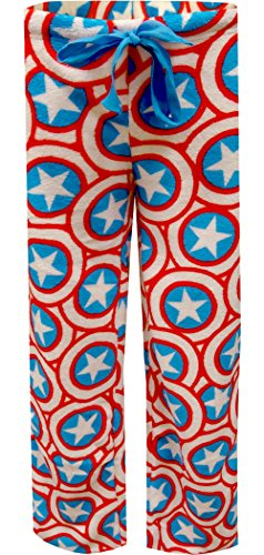 Marvel Comics Captain America Plush Lounge Pants
