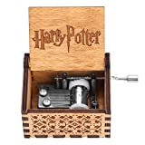 Akozon 1pc Wooden Hand Crank Music Box Mechanical Classic Craft Birthday Gift(Harry Potter)