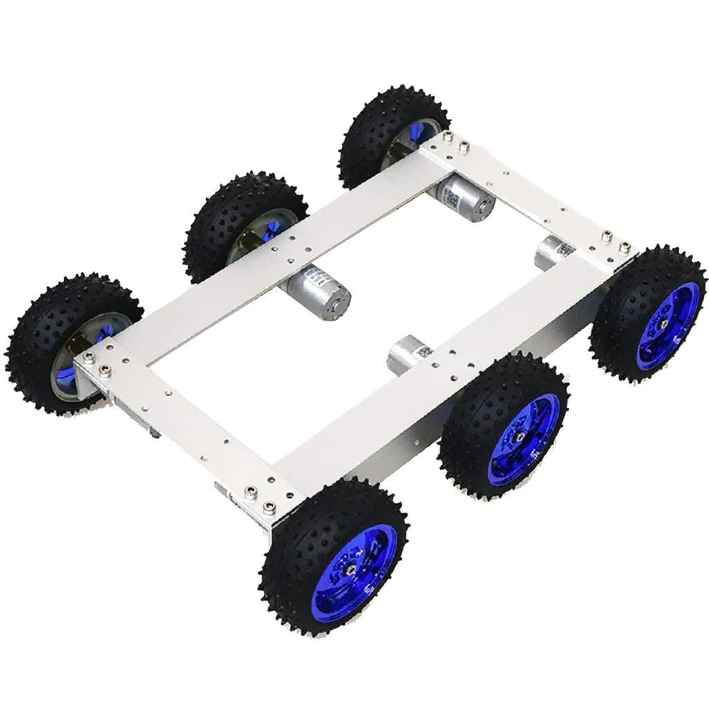 F Fityle 12V 330RPM Auto Chassis Roboter Plattform Auto Fahrgestell mit Zubehör für Arduino, ca. 340 x 240 x 85 mm - Blaues Rad B07PQKM75B Zubehör Abgabepreis | Deutschland Frankfurt