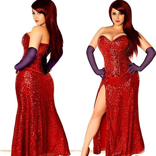 Plus Size Sexy Jessica Rabbit Inspired Halloween Costume