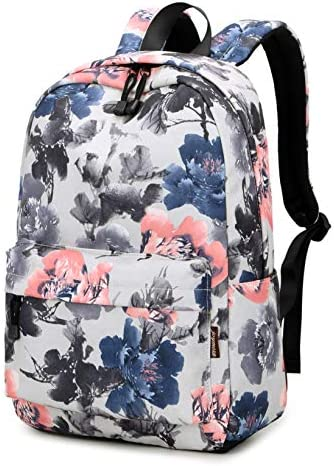 Joymoze Fashion Water Resistant College Backpack Casual Daypack for Teen Girl Grey