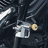 Kuryakyn Universal Helmet Lock Street Racing Motorcycle Helmet Accessories - Chrome / 1-1/4''-1-1/2''