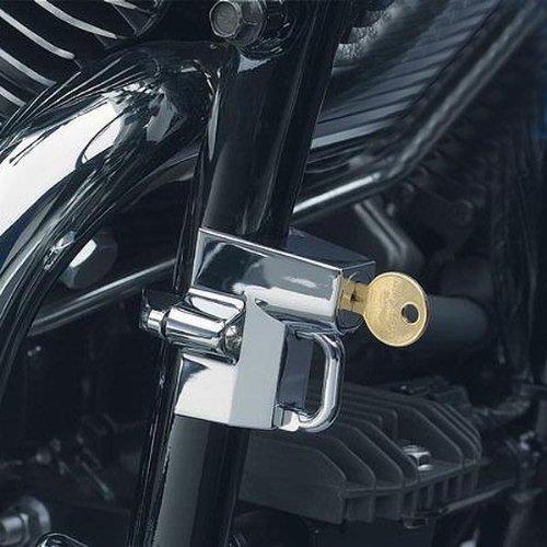 Kuryakyn Universal Helmet Lock Street Racing Motorcycle Helmet Accessories - Chrome / 1-1/4