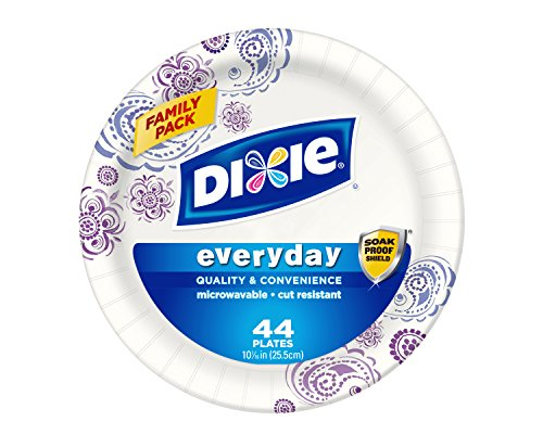 Dixie HD Paper Plates, 10 1/16 Inches, 44 Count (Pack