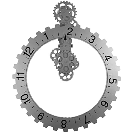 Invotis Coole Wanduhr Big Hour Wheel Clock In Schwarz