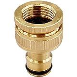 """TRIXES Adattatore per tubo flessibile in ottone 3/4"""" - per pompe da giardino"""