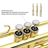 Eastrock Gold Trumpet Brass Standard Bb Trumpet Set for Student Beginner with Hard Case, Gloves, 7C Mouthpiece and Trumpet Cleaning Kit