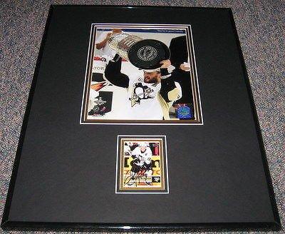 Stanley Framed 2009 Cup (Sergei Gonchar 2009 Stanley Cup Signed Framed 16x20 Photo Display JSA Penguins)