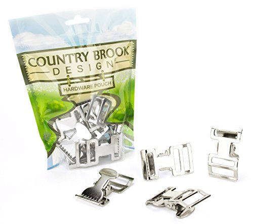 Plated Alligator (25 - Country Brook Design 1 Inch Alligator Clip Spring Action Buckle)