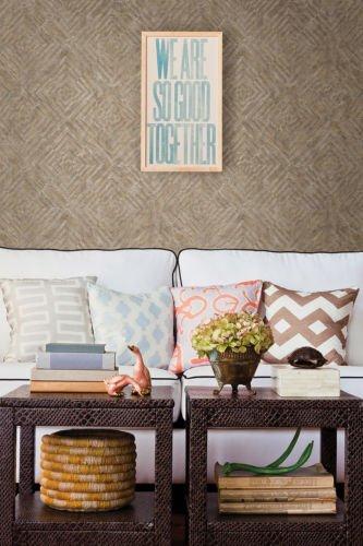 FD24002 - Restored Bronze Labyrinth Fine Decor Wallpaper by Fine Decor