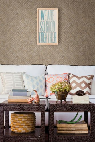 FD24002 - Restored Bronze Labyrinth Fine Decor Wallpaper