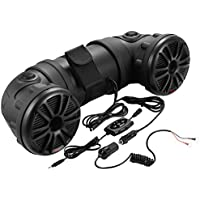 Motorcycle Speakers | BOSS Audio ATV25B ATV/UTV Sound System, Bluetooth, Amplified, Weather-Proof Marine Grade, Bluetooth Remote, 12 Volt Application Friendly