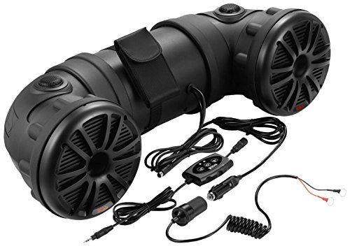 ATV Speaker System | BOSS Audio ATV25B ATV/UTV Sound System, Bluetooth, Amplified, Weather-Proof Marine Grade, Bluetooth Remote, 12 Volt Application Friendly