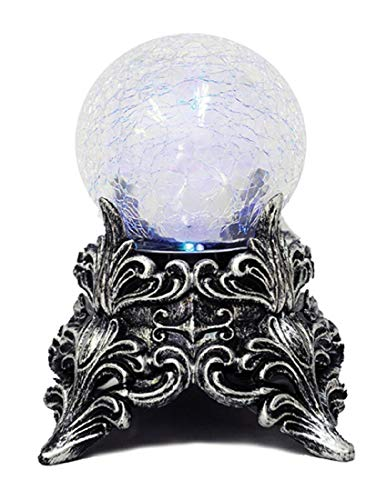 Seasons USA Witches Crackle Mystic Crystal Ball Blue Green Lights Halloween Decoration Prop