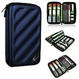 BUBM Portable EVA Hard Drive Case Travel Organizer for Electronics (1 Blue Large)
