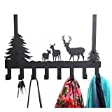 Kedera Over The Door 8 Hook Rack - Decorative Organizer Hooks for Clothes, Coat, Hat, Belt, Towels - Stylish Over Door Hanger for Home or Office Use