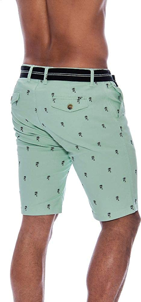TR Fashion Mens Bahamas Belted Walking Shorts