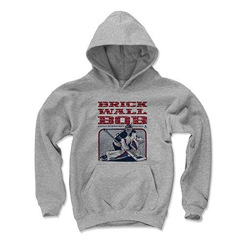 500 LEVEL Sergei Bobrovsky Columbus Blue Jackets Youth Sweatshirt (Kids Large, Gray) - Sergei Bobrovsky Brick Wall R
