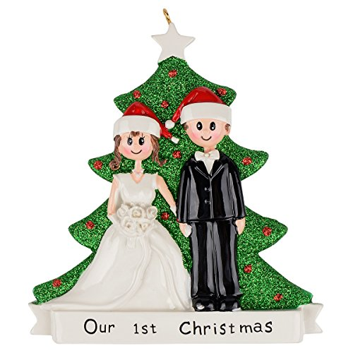 (MAXORA Our 1st Christmas Wedding Couple Personalized)