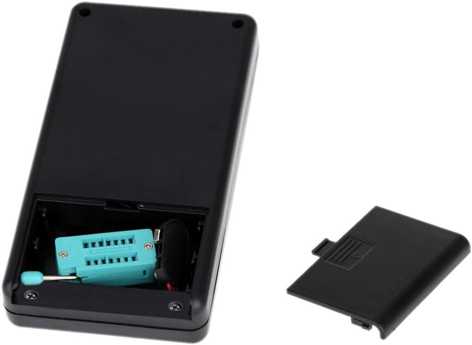 KKmoon Multifonctionnel Testeur de Transistor Diode//Thyristor//ESR//LCR//Capacim/ètre avec R/étro-/éclairage LCD Gris Bo/îtier en Plastique