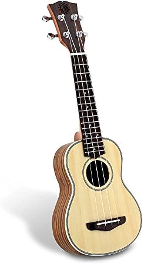 Pyle cara de abeto – Ukelele soprano (madera maciza, respaldo de ...
