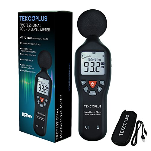 Digital Sound Level Meter with Tripod Mount Back-light Display High Accuracy Measuring 30dB-130dB Compact Instrument noises from industrial machinery equipment ,environmental measurements (Measurement Equipment)