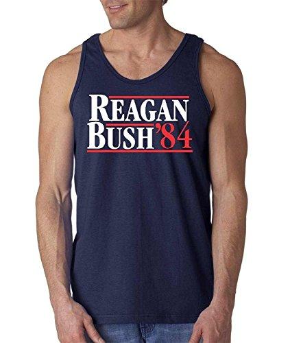 Artix A+ Reagan Bush 84 Men Tank Top Large Navy Blue
